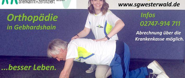 Neue Rehasportgruppe Orthopädie