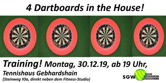 Dart Training am 30.12.2019