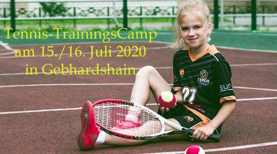 Tennis Trainingslager für den Nachwuchs in Gebhardshain am 15./16. Juli