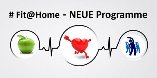 NEUE Programme in Fit@Home können abgerufen werden