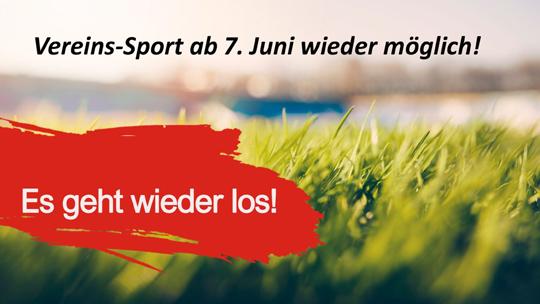 Vereins-Sport ab 7. Juni wieder möglich