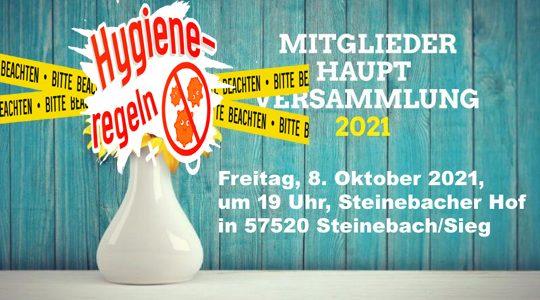 Hygieneregeln Mitgliederversammlung 08.10.2021